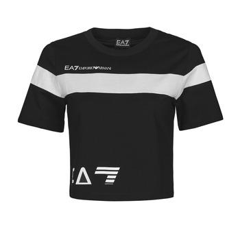 Odjeća Žene  Majice kratkih rukava Emporio Armani EA7 3KTT05-TJ9ZZ-1200 Crna / Bijela