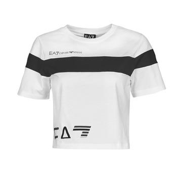 Odjeća Žene  Majice kratkih rukava Emporio Armani EA7 3KTT05-TJ9ZZ-1100 Bijela / Crna
