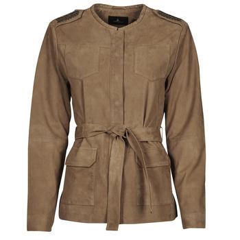 Odjeća Žene  Kožne i sintetičke jakne One Step DITA Boja konjaka