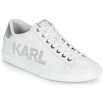 Obuća Žene  Niske tenisice Karl Lagerfeld KUPSOLE II KARL PUNKT LOGO LO Bijela