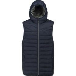 Odjeća Muškarci  Pernate jakne Proact Doudoune sans manches à capuche bleu marine