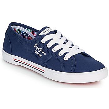 Obuća Žene  Niske tenisice Pepe jeans ABERLADY ECOBASS Blue