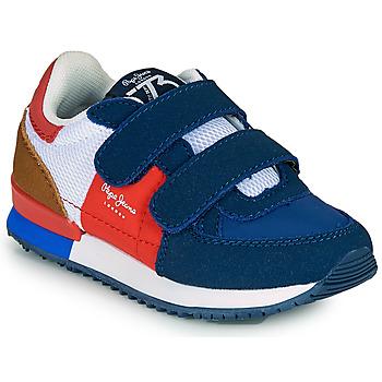 Obuća Dječak  Niske tenisice Pepe jeans SYDNEY TREND BOY KIDS SS21 Blue / Red