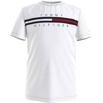 Odjeća Dječak  Majice kratkih rukava Tommy Hilfiger KB0KB06532-YBR Bijela