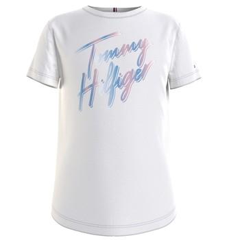 Odjeća Djevojčica Majice kratkih rukava Tommy Hilfiger KG0KG05870-YBR Bijela