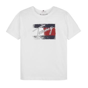 Odjeća Djevojčica Majice kratkih rukava Tommy Hilfiger MONCHE Bijela