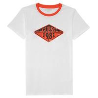 Odjeća Dječak  Majice kratkih rukava Guess L1GI09-K8HM0-TWHT Bijela