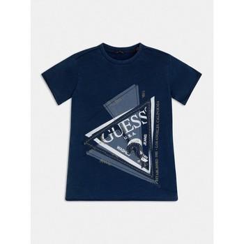 Odjeća Dječak  Majice kratkih rukava Guess L1RI15-K8GA0-F233 Blue
