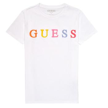Odjeća Djevojčica Majice kratkih rukava Guess H1RJ04-K8HM0-TWHT Bijela