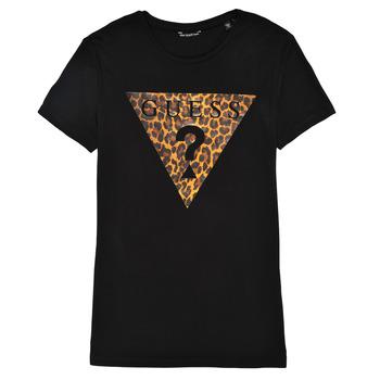 Odjeća Djevojčica Majice kratkih rukava Guess J1RI27-K9MV0-P954 Crna