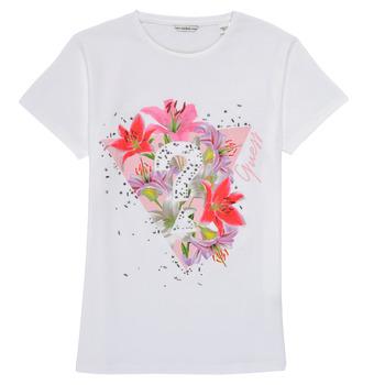 Odjeća Djevojčica Majice kratkih rukava Guess J1RI24-K6YW1-TWHT Bijela