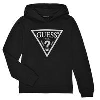 Odjeća Djevojčica Sportske majice Guess J83Q14-K5WK0-A996 Crna