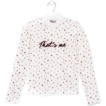 Odjeća Djeca Majice / Polo majice Losan 024-1008AL Bijela