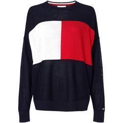 Odjeća Žene  Sportske majice Tommy Hilfiger WW0WW28582 Plava