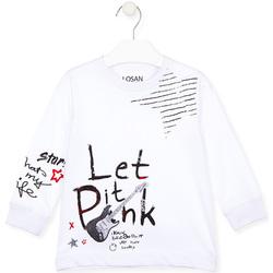 Odjeća Djeca Majice / Polo majice Losan 025-1000AL Bijela