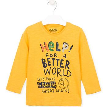 Odjeća Djeca Majice / Polo majice Losan 025-1005AL Žuta boja