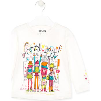 Odjeća Djeca Majice / Polo majice Losan 026-1003AL Bijela