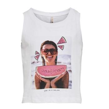 Odjeća Djevojčica Majice s naramenicama i majice bez rukava Only KONLANA Bijela
