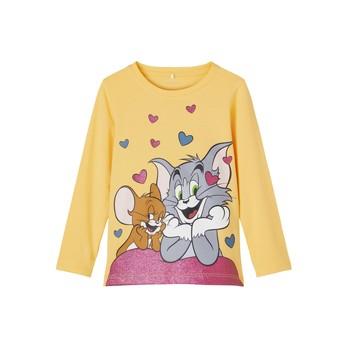 Odjeća Djevojčica Majice dugih rukava Name it TOM&JERRY Žuta