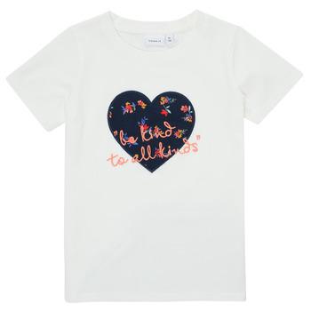 Odjeća Djevojčica Majice kratkih rukava Name it NMFDELFIN TOP Bijela