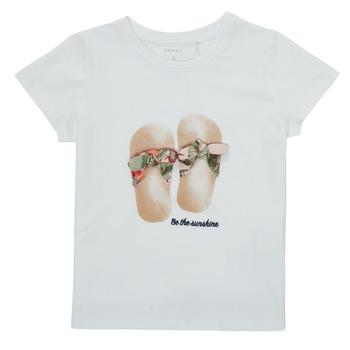 Odjeća Djevojčica Majice kratkih rukava Name it NMFFISUMMER Bijela