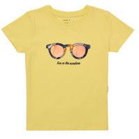 Odjeća Djevojčica Majice kratkih rukava Name it NMFFISUMMER Žuta