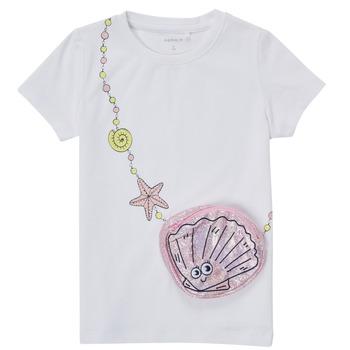 Odjeća Djevojčica Majice kratkih rukava Name it NMFFEFA Bijela