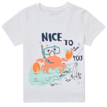 Odjeća Dječak  Majice kratkih rukava Name it NMMFANO Bijela