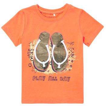 Odjeća Dječak  Majice kratkih rukava Name it NMMFASHO Narančasta