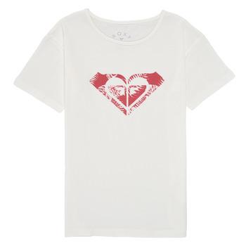 Odjeća Djevojčica Majice kratkih rukava Roxy DAY AND NIGHT PRINT Bijela