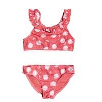 Odjeća Djevojčica Dvodijelni kupaći kostimi Roxy TEENY EVERGLOW CROP TOP SET Ružičasta