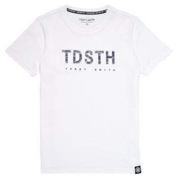 Odjeća Dječak  Majice kratkih rukava Teddy Smith T-MAX Bijela