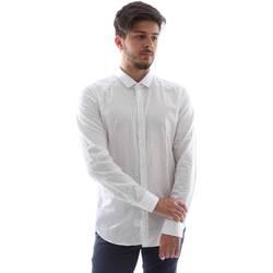 Odjeća Muškarci  Košulje dugih rukava Gmf FS15 961138/1 Bijela