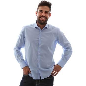 Odjeća Muškarci  Košulje dugih rukava Gmf 961146/1 Plava