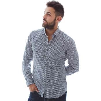 Odjeća Muškarci  Košulje dugih rukava Gmf 961151/3 Plava