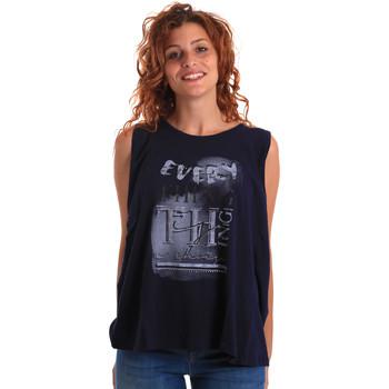Odjeća Žene  Majice s naramenicama i majice bez rukava Key Up 5Z14S 0001 Plava