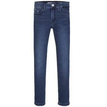 Odjeća Djevojčica Skinny traperice Calvin Klein Jeans SKINNY ESS ROYAL BLUE Blue