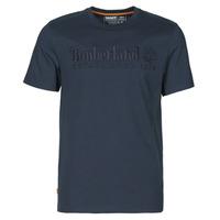 Odjeća Muškarci  Majice kratkih rukava Timberland SS OUTDOOR HERITAGE LINEAR LOGO TEE REGULAR Blue