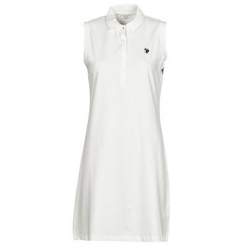 Odjeća Žene  Kratke haljine U.S Polo Assn. AMY DRESS POLO SLEEVELESS Bijela