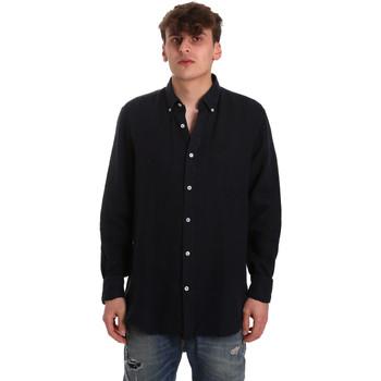 Odjeća Muškarci  Košulje dugih rukava Navigare NV91108 Plava
