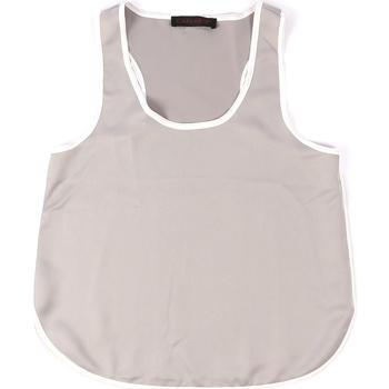 Odjeća Žene  Majice s naramenicama i majice bez rukava Café Noir JT002 Siva