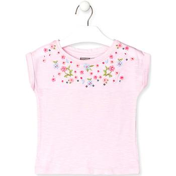 Odjeća Djeca Majice kratkih rukava Losan 016-1003AL Ružičasta