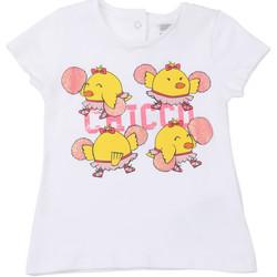 Odjeća Djeca Majice kratkih rukava Chicco 09006955000000 Bijela