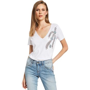 Odjeća Žene  Majice kratkih rukava Gaudi 011BD64017 Bijela