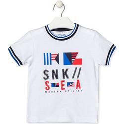 Odjeća Djeca Majice kratkih rukava Losan 015-1000AL Bijela