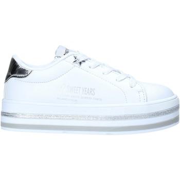 Obuća Djeca Niske tenisice Sweet Years S20-SSK414 Bijela