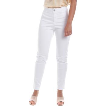 Odjeća Žene  Chino hlačei hlače mrkva kroja NeroGiardini E060100D Bijela