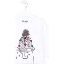 Odjeća Djeca Majice dugih rukava Losan 026-1007AL Bijela