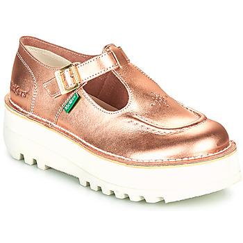 Obuća Žene  Balerinke i Mary Jane cipele Kickers KICKOUSTRAP Ružičasta