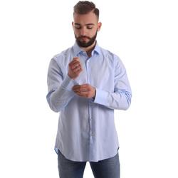 Odjeća Muškarci  Košulje dugih rukava Gmf 962111/21 Plava